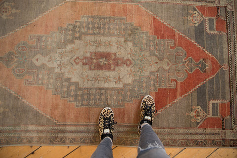 Vintage Distressed Oushak Rug Runner / ONH item 6789 Image 1