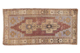 Vintage Distressed Oushak Rug Runner / ONH item 6790