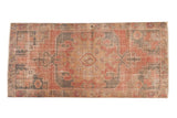 Vintage Distressed Oushak Rug Runner / ONH item 6791
