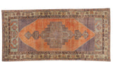 Vintage Distressed Oushak Rug Runner / ONH item 6794