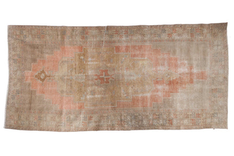 Vintage Distressed Oushak Rug Runner / ONH item 6796