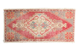 Vintage Distressed Oushak Rug Mat Runner / ONH Item 6802