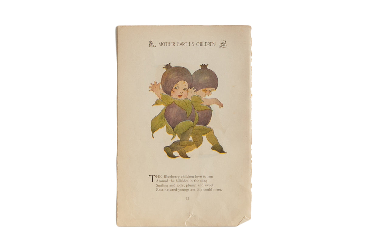 Antique M.T. Ross Mother Earth's Children Illustration // ONH Item 6824