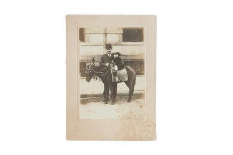 Antique Photograph of Child on Horse