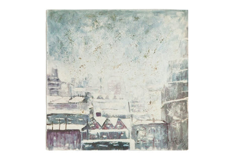 Vintage Print Snow in the City