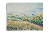 Vintage Colorful Landscape Print