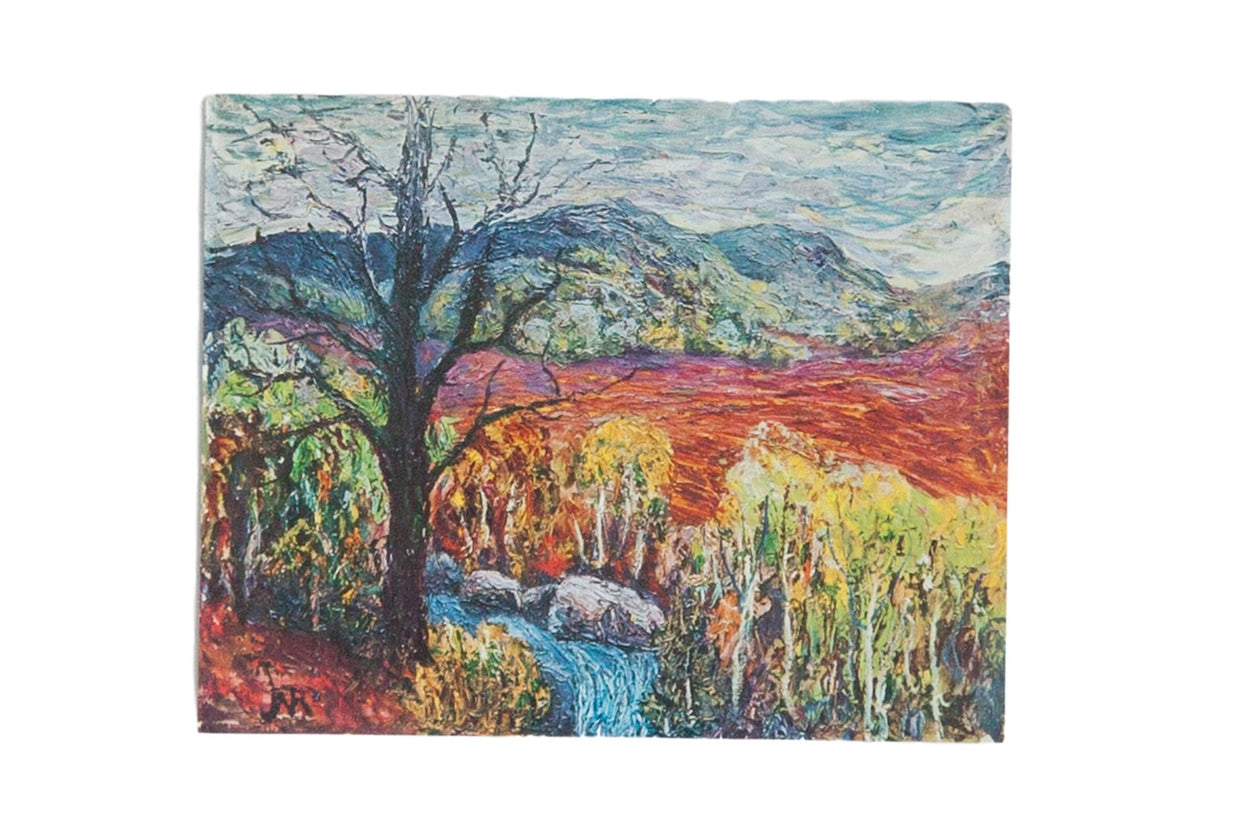 Vintage Print of Blue Stream