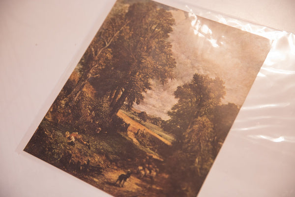 Vintage Print of Constable The Cornfield Image 1