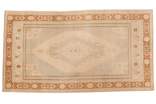 Vintage Distressed Oushak Carpet / ONH item 6916