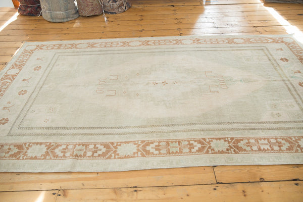 Image Vintage Distressed Oushak Carpet / ONH item 6916 Image 5