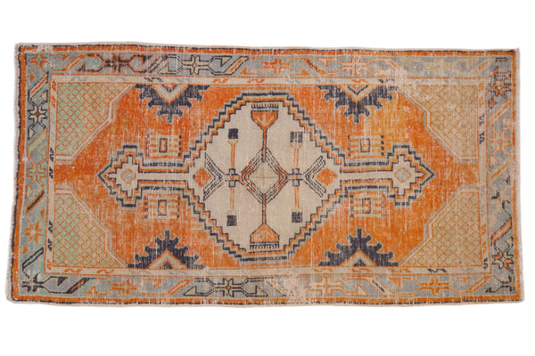 Vintage Distressed Oushak Rug Runner / ONH item 6979
