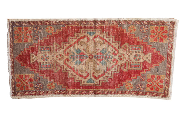 Vintage Distressed Oushak Rug Mat Runner / ONH item 6988