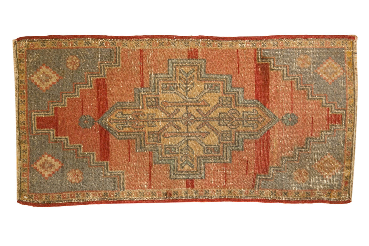 1.5x3.5 Vintage Distressed Oushak Rug Mat Runner // ONH Item 6997
