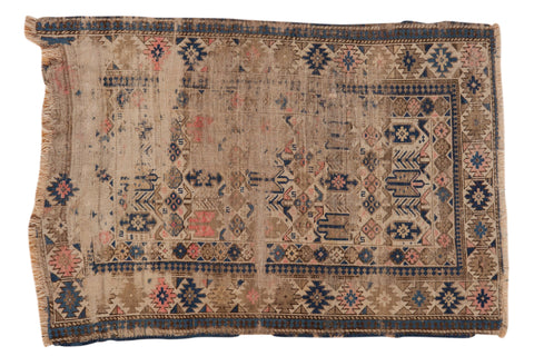 3.5x5 Antique Caucasian Rug