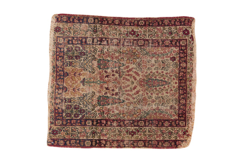2x2 Antique Kerman Square Rug Mat // ONH Item 7009