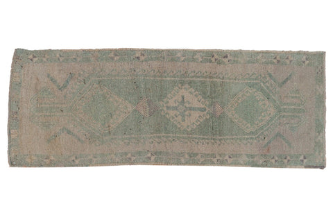 Vintage Distressed Oushak Rug Runner / ONH item 7015