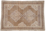 Vintage Distressed Oushak Carpet / ONH item 7016