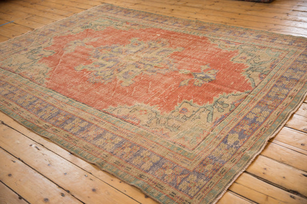 Vintage Distressed Oushak Carpet / ONH item 7021 Image 2