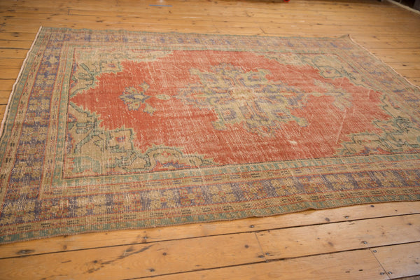 Vintage Distressed Oushak Carpet / ONH item 7021 Image 4