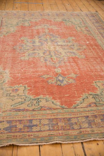 Vintage Distressed Oushak Carpet / ONH item 7021 Image 7