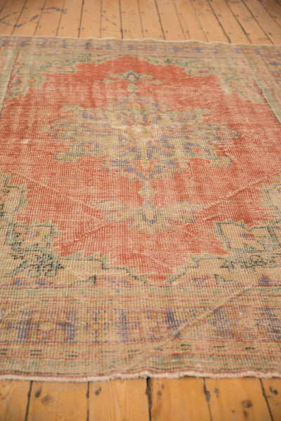 Vintage Distressed Oushak Carpet / ONH item 7021 Image 8