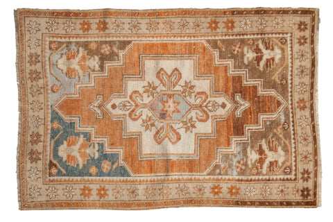 Vintage Distressed Oushak Rug / ONH item 7040