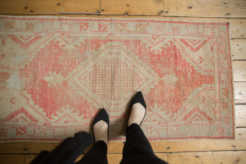 Vintage Distressed Oushak Rug Runner / ONH item 7041 Image 1