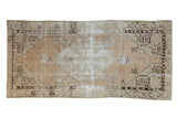 Vintage Distressed Oushak Rug Runner / ONH item 7047