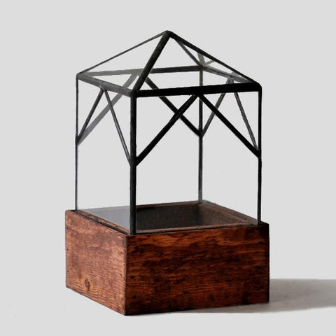 "Glass ""Elias Trap"" Terrarium House // ONH Item 7064"