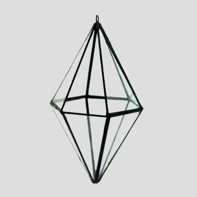 Glass Diamond Air Plant Hanger // ONH Item 7066