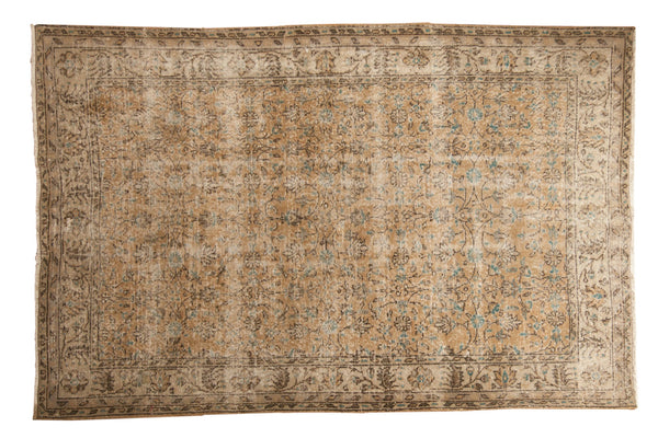 Vintage Distressed Oushak Carpet / ONH item 7086