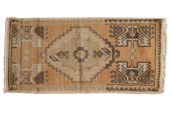 Vintage Distressed Oushak Rug Mat Runner / ONH item 7088