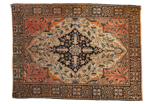 Antique Farahan Sarouk Square Rug / ONH item 7124