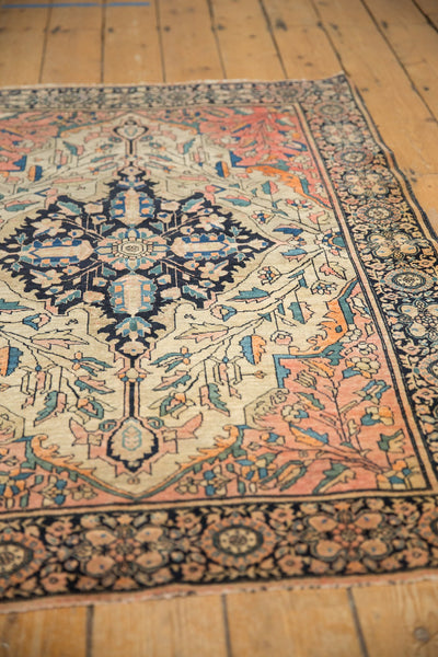 Antique Farahan Sarouk Square Rug / ONH item 7124 Image 7