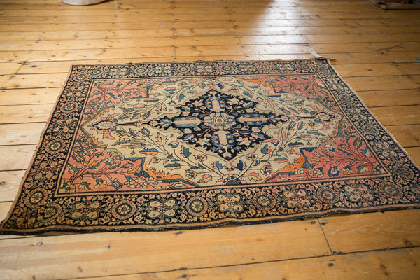 Antique Farahan Sarouk Square Rug / ONH item 7124 Image 10