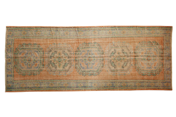 Vintage Distressed Oushak Rug Runner / ONH item 7127