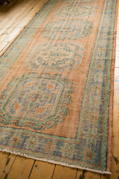 Vintage Distressed Oushak Rug Runner / ONH item 7127 Image 2