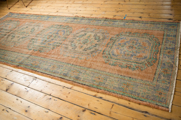 Vintage Distressed Oushak Rug Runner / ONH item 7127 Image 4