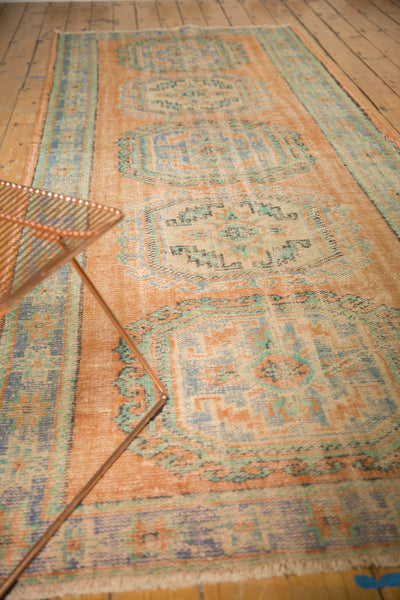 Vintage Distressed Oushak Rug Runner / ONH item 7127 Image 8