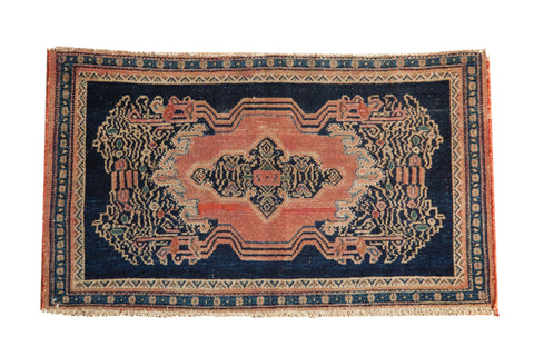 Antique Sampler Senneh Rug Mat / ONH item 7271