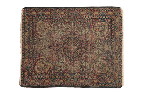 2x2.5 Antique Kerman Square Rug Mat // ONH Item 7272