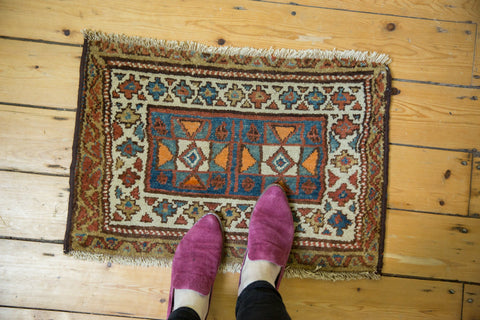 Antique Bagface Kurdish Square Rug Mat / ONH item 7284 Image 1