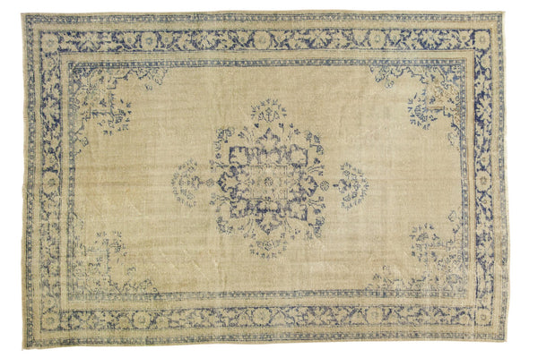 Vintage Distressed Oushak Carpet / ONH item 7295