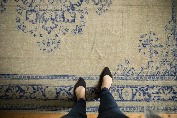 Vintage Distressed Oushak Carpet / ONH item 7295 Image 1
