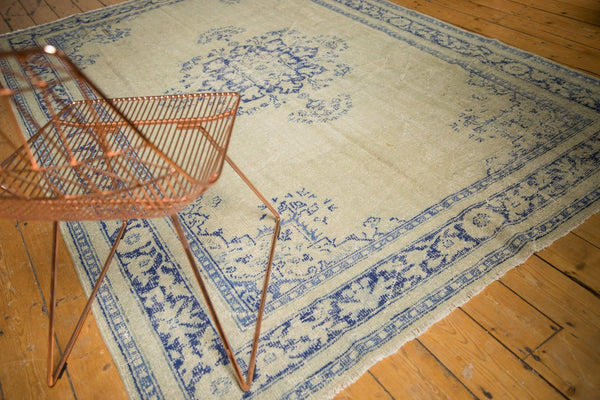 Vintage Distressed Oushak Carpet / ONH item 7295 Image 2