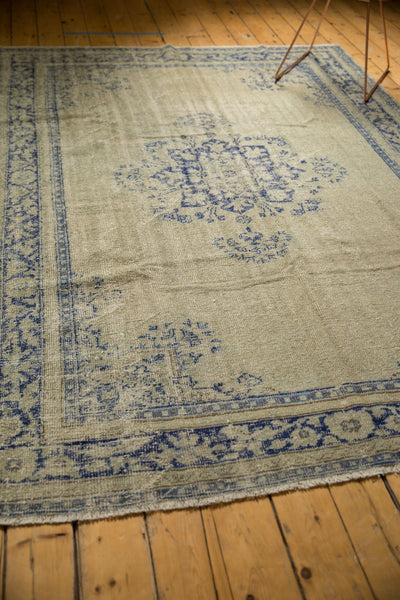 Vintage Distressed Oushak Carpet / ONH item 7295 Image 6