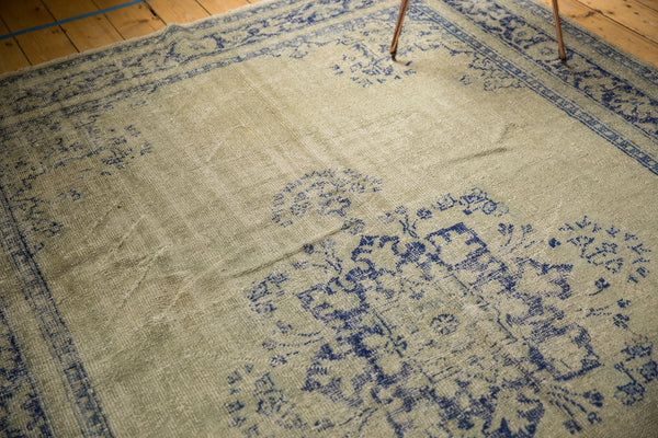 Vintage Distressed Oushak Carpet / ONH item 7295 Image 13