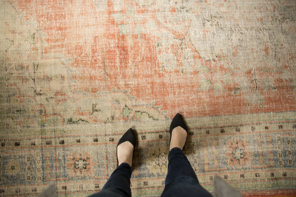 Vintage Distressed Oushak Carpet / ONH item 7299 Image 2