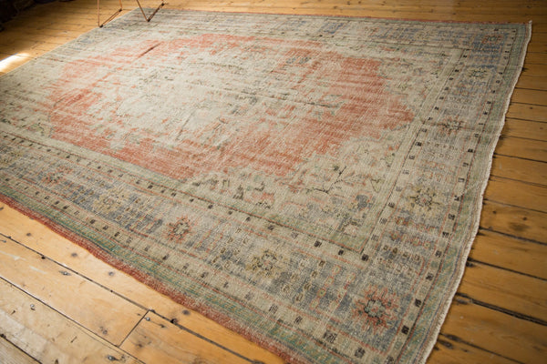 Vintage Distressed Oushak Carpet / ONH item 7299 Image 3