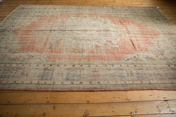 Vintage Distressed Oushak Carpet / ONH item 7299 Image 8